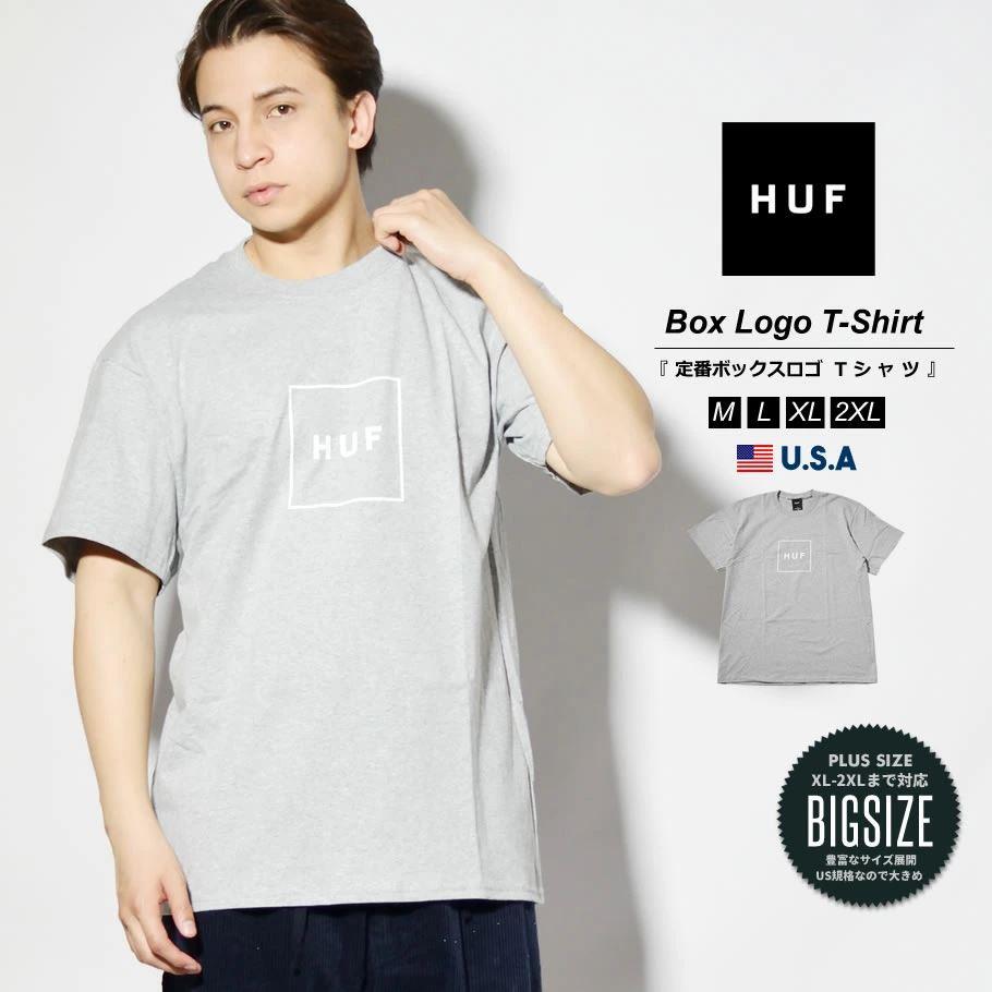 HUF ハフ Tシャツ メンズ レディース 半袖 USAモデル ESSENTIALS OG LOGO S/S TEE グレー TS00507 2021 春夏 新作