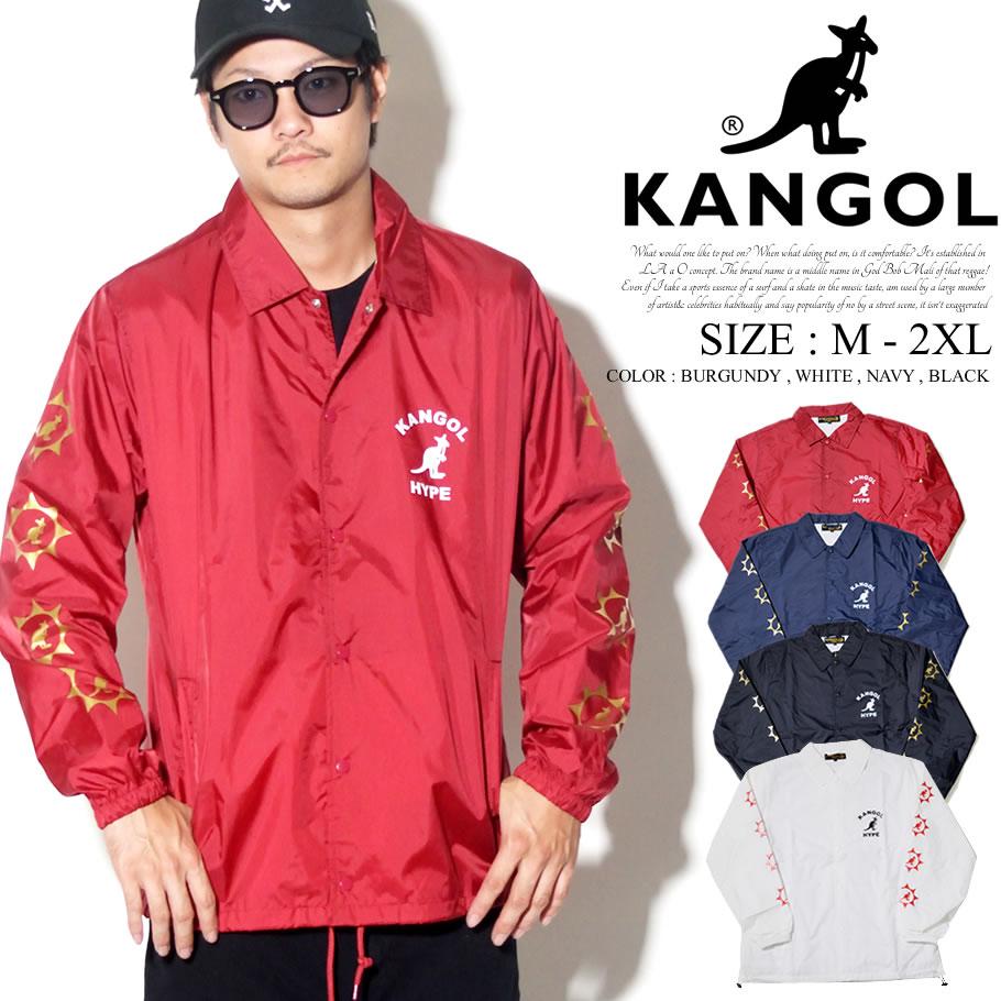 KANGOL カンゴール コーチジャケット メンズ カンガルー ロゴ プリント トリート系 ヒップホップ ファッション 服 通販 LCJ0001