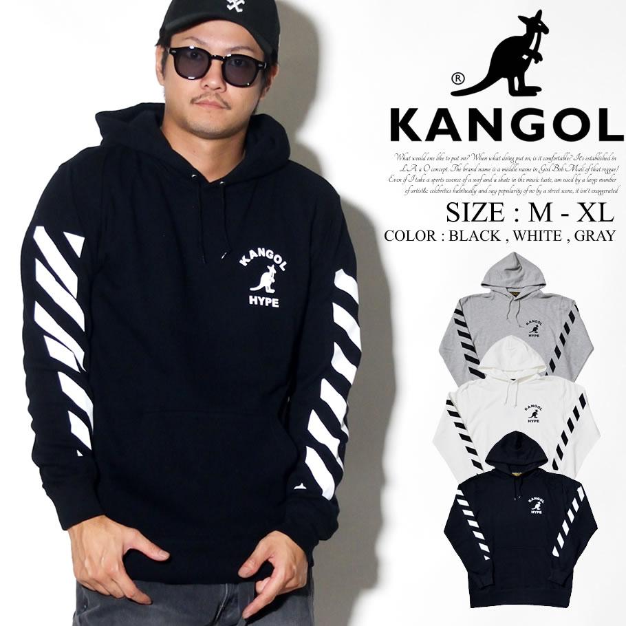 KANGOL カンゴール プルオーバー パーカー メンズ カンガルー ロゴ プリント トリート系 ヒップホップ ファッション 服 通販 LCK0019