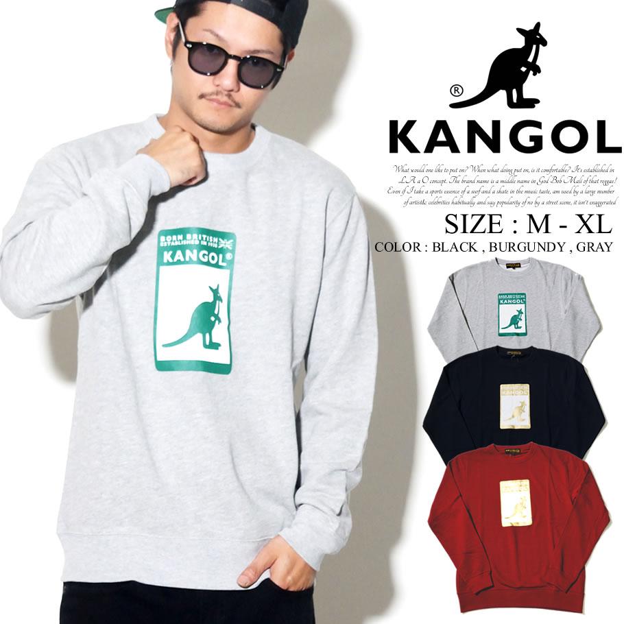 KANGOL カンゴール トレーナー メンズ カンガルー ロゴ グラフィック プリント ストリート系 ヒップホップ ファッション 服 通販 LCK0013