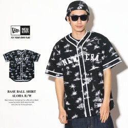 NEW ERA ニューエラ ベースボールシャツ アロハ B/W ブラック (11556845)