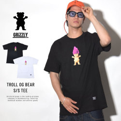 GRIZZLY グリズリー 半袖Tシャツ TROLL OG BEAR S/S TEE (GMB1801P32)