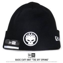 NEW ERA ニューエラ コラボ ニットキャップ ベーシックカフニット The Offspring オフスプリング ロゴ ブラック×ホワイト 11797089