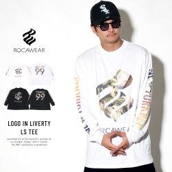 ROCAWEAR ロカウェア 長袖Tシャツ LOGO IN LIVERTY LS TEE RW183T01