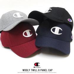 CHAMPION チャンピオン カーブドバイザーキャップ WOOLY TWILL 6 PANEL CAP 381-002A