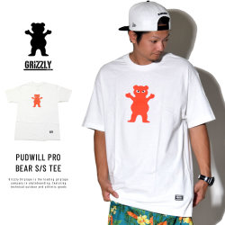 Grizzly Griptape グリズリーグリップテープ 半袖Tシャツ PUDWILL PRO BEAR S/S TEE (SMA1801P13)