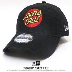 NEW ERA ニューエラ コラボ カーブバイザーキャップ 9THIRTY クロスストラップ Santa Cruz サンタクルーズ ロゴ ブラック 11838645