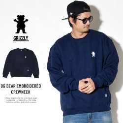 Grizzly Griptape トレーナー OG BEAR EMBROIDERED CREWNECK GMA1706P04
