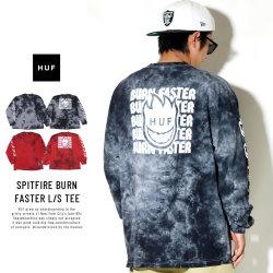 HUF ハフ 長袖Tシャツ SPITFIRE BURN FASTER L/S TEE TS00653