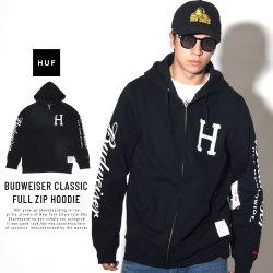 HUF ハフ ジップパーカー BUDWEISER CLASSIC FULL ZIP HOODIE PF00139