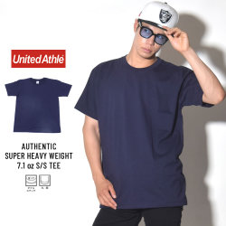 UNITED ATHLE ユナイテッドアスレ 半袖Tシャツ AUTHENTIC SUPER HEAVY WEIGHT 7.1OZ S/S TEE ネイビー (4252-01)