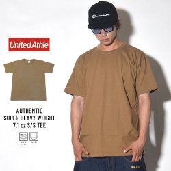 UNITED ATHLE ユナイテッドアスレ 半袖Tシャツ AUTHENTIC SUPER HEAVY WEIGHT 7.1OZ S/S TEE ダークキャメル (4252-01)