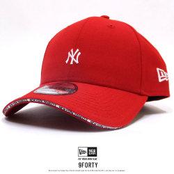 NEW ERA ニューエラ カーブバイザーキャップ 9FORTY ニューヨーク・ヤンキース サンドウィッチバイザー スカーレット 11899237