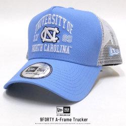 NEW ERA ニューエラ メッシュキャップ 9FORTY A-Frame トラッカー ノースカロライナ大学 スカイブルー×オフィシャルロゴカラー ホワイトメッシュ 11903760