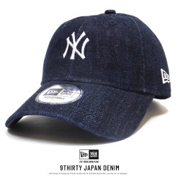 NEW ERA ニューエラ カーブバイザーキャップ 9THIRTY クロスストラップ ジャパンデニム ニューヨーク・ヤンキース ウォッシュドインディゴ × ホワイト 11899256