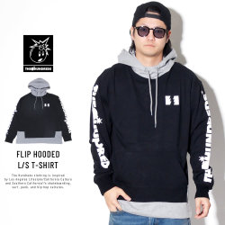 THE HUNDREDS ザ・ハンドレッズ 長袖Tシャツ FLIP HOODED L/S T-SHIRT T19P109004