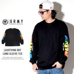 GRIMEY グライミー 長袖Tシャツ LAUGTHING BOY LONG SLEEVE TEE GLS125