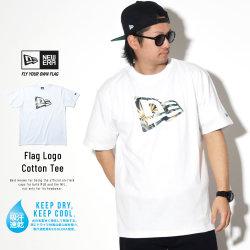 NEW ERA ニューエラ 半袖Tシャツ パフォーマンス Tシャツ ボタニカル フラッグロゴ ホワイト × ネイビーボタニカル 11901341