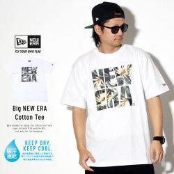 NEW ERA ニューエラ 半袖Tシャツ パフォーマンス Tシャツ ボタニカル ビッグニューエラ ホワイト × ネイビーボタニカル 11901343