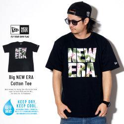 NEW ERA ニューエラ 半袖Tシャツ パフォーマンス Tシャツ ボタニカル ビッグニューエラ ブラック × ホワイトボタニカル 11901344