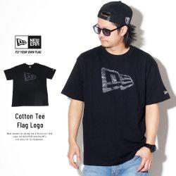 NEW ERA ニューエラ 半袖Tシャツ コットン Tシャツ タイガーストライプラインカモ フラッグロゴ ブラック 11901379