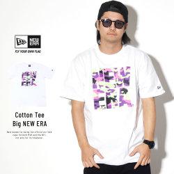 NEW ERA ニューエラ 半袖Tシャツ コットン Tシャツ カラーカモ ビッグニューエラ ホワイト 11901405