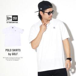 NEW ERA ニューエラ ポロシャツ ポロシャツ 鹿の子 ニューヨーク・ヤンキース ホワイト × ブラック 11901446