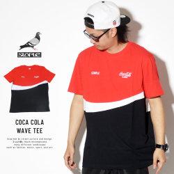STAPLE ステイプル 半袖Tシャツ COCA COLA WAVE TEE 1901C5199
