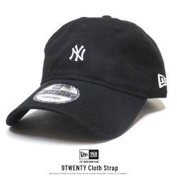 NEW ERA ニューエラ カーブバイザーキャップ 9TWENTY クロスストラップ ニューヨーク・ヤンキース ミニロゴ ブラック × ホワイト 11914538