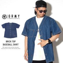 GRIMEY グライミー ベースボールシャツ BRICK TOP BASEBALL SHIRT GBSH107
