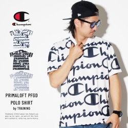 CHAMPION チャンピオン ポロシャツ 総柄 襟リブ PRIMALOFT TRAINING POLO SHIRT C3-PS330