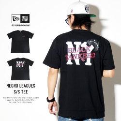 NEW ERA ニューエラ 半袖Tシャツ コットン Tシャツ ニグロリーグ ニューヨーク・ブラックヤンキース ブラック 11900232