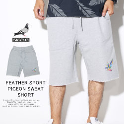 STAPLE ステイプル ハーフパンツ FEATHER SPORT PIGEON SWEAT SHORT 1904B5303