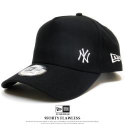 NEW ERA ニューエラ カーブバイザーキャップ 9FORTY A-Frame ニューヨーク・ヤンキース フローレス ブラック × ホワイト 12028771