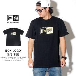NEW ERA ニューエラ 半袖Tシャツ コットン Tシャツ ボックスロゴ ブラック × ゴールド 11783009