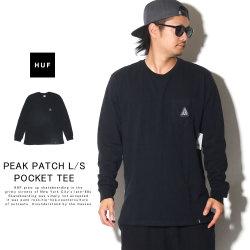 HUF ハフ 長袖Tシャツ PEAK PATCH L/S POCKET TEE TS00871