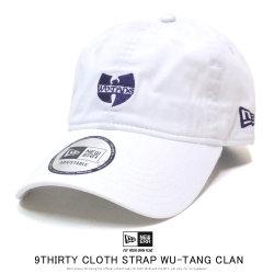 NEW ERA ニューエラ カーブバイザーキャップ 9THIRTY クロスストラップ WU-TANG CLAN ウータン・クラン ロゴ ホワイト 12110789