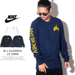 NIKE JORDAN ナイキ ジョーダン 長袖Tシャツ M J CLASSICS LS CREW AT8897