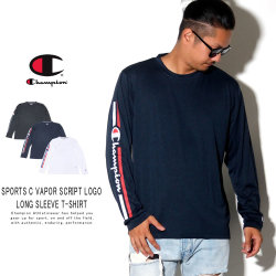 CHAMPION チャンピオン 長袖Tシャツ SPORTS C VAPOR SCRIPT LOGO LONG SLEEVE T-SHIRT C3-QS402