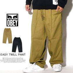 OBEY オベイ イージーパンツ EASY TWILL PANT 142020142