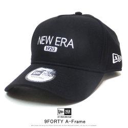 NEW ERA ニューエラ カーブバイザーキャップ 9FORTY A-Frame スウェット ニューエラ 1920 ブラック × スノーホワイト ブラック 12108930