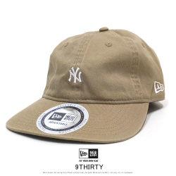NEW ERA ニューエラ カーブバイザーキャップ 9THIRTY クロスストラップ パッカブル ニューヨーク・ヤンキース カーキ × スノーホワイト 12108997