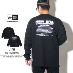 NEW ERA ニューエラ 長袖Tシャツ ロンT 長袖 コットン Tシャツ ニューエラ ヒストリー ブラック 12108230