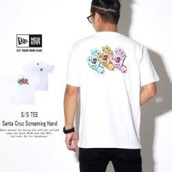 NEW ERA ニューエラ 半袖Tシャツ コットン Tシャツ Santa Cruz サンタクルーズ Screaming Hand ホワイト 12110827