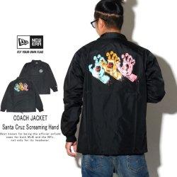 NEW ERA ニューエラ コーチジャケット ナイロンジャケット Santa Cruz サンタクルーズ Screaming Hand ブラック 12110857