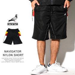 STAPLE ステイプル ナイロンショートパンツ NAVIGATOR NYLON SHORT 1908B5523