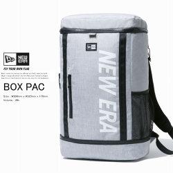 NEW ERA ニューエラ バックパック ボックスパック 26L プリントロゴ ヘザーライトグレー × ホワイト 12108791