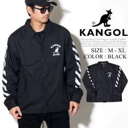 KANGOL カンゴール コーチジャケット メンズ カンガルー ロゴ プリント トリート系 ヒップホップ ファッション 服 通販 LCJ0002