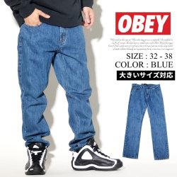 OBEY オベイ デニムパンツ ジーンズ メンズ Gパン ストリート系 ファッション 服 通販 142010053 OBDT004