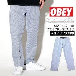 OBEY オベイ ストライプパンツ メンズ ストリート系 ファッション 服 通販 142020115 OBDT006